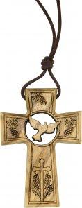 Copertina di 'Bomboniera comunione/cresima: Croce in ulivo con simboli comunione e cresima - 4,7 cm'