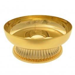 Copertina di 'Patena con base in ottone dorato - diametro 10 cm'