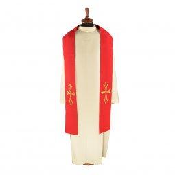 Copertina di 'Stola rossa con croce dorata stilizzata'