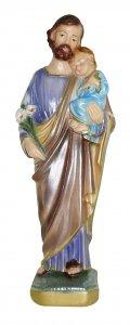 Copertina di 'Statua San Giuseppe in gesso madreperlato dipinta a mano - 20 cm'