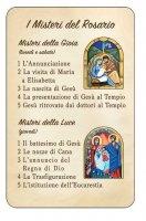 """Card """"I misteri del rosario"""""""