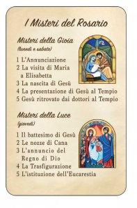 """Copertina di 'Card """"I misteri del rosario""""'"""