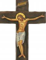 Immagine di 'Crocifisso Cristo morente, produzione greca in legno - 21,5 x 14 cm'