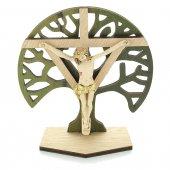 Crocifisso con base e Albero della Vita - altezza 10 cm