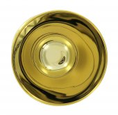 Immagine di 'Calice in ottone dorato con fodera - 13 cm'