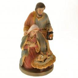 Copertina di 'Statua Sacra Famiglia in resina dipinta a mano (cm. 15)'