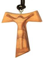 Tau con Cristo intagliato con laccio di  su LibreriadelSanto.it