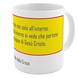 """Copertina di 'SpiriTazza """"L'immagine di Gesù Cristo"""" (San Paolo della Croce) - Sfondo giallo'"""