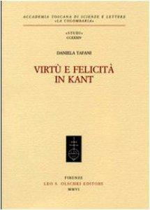 Copertina di 'Virtù e felicità in Kant'