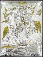 Quadro Maria che sciogle i nodi in Argento 925 - Bassorilievo - 11x8 cm