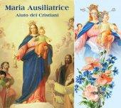 Rosario e libretto con immagine della Madonna Ausiliatrice