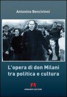 L' opera di Don Milani tra politica e cultura - Bencivinni Antonino