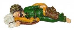 Copertina di 'Statua di San Giuseppe dormiente in resina dipinta a mano da 40 cm'