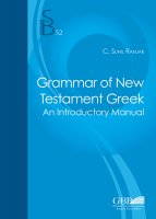 Grammar of the New Testament Greek - C. Sunil Ranjar