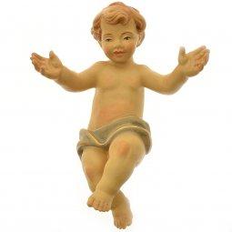 Copertina di 'Gesù bambino in legno naturale colorato a mano - altezza 20 cm'