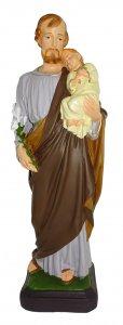 Copertina di 'Statua da esterno di San Giuseppe in materiale infrangibile dipinta a mano da 40 cm'