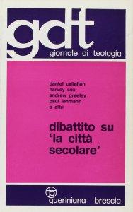 Copertina di 'Dibattito su «La città secolare» (gdt 059)'