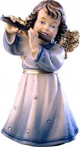 Copertina di 'Statuina dell'angioletto con flauto traverso, linea da 10 cm, in legno dipinto a mano, collezione Angeli Sissi - Demetz Deur'