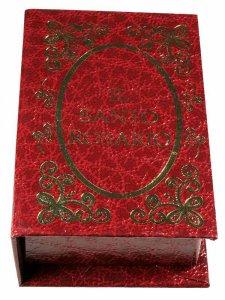 Copertina di 'Portarosario a libro rosso - dimensioni 7x5 cm'