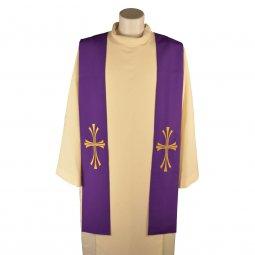Copertina di 'Stola viola con croce dorata tripartita e stilizzata'
