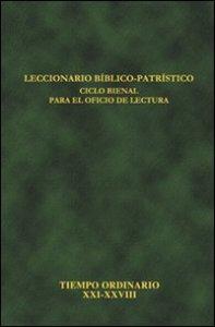 Copertina di 'Leccionario bíblico-patrístico. Ciclo bienal para el oficio de lectura'