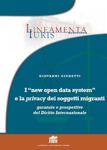 """Copertina di 'I """"new open data system"""" e la privacy dei soggetti migranti'"""