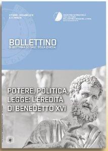 Copertina di 'Potere politica legge: l'eredit� di Benedetto XVI'