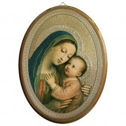 """Copertina di 'Icona ovale""""Madonna del Buon Consiglio"""" - dimensioni 21,5x16 cm'"""