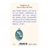 """Immagine di 'Card """"Sacro Cuore di Gesù"""" con preghiera e medaglia - (10 pezzi)'"""
