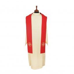 Copertina di 'Stola rossa con ricamo a croce greca e pesci stilizzati'