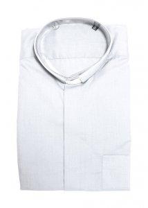 Copertina di 'Camicia clergyman bianca manica lunga 100% cotone - collo 42'