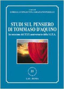 Copertina di 'Studi sul pensiero di Tommaso d'Aquino'