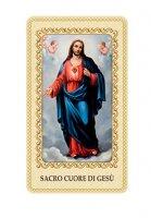 """Immaginetta plastificata con preghiera """"Sacro Cuore di Gesù"""" - dimensioni 6x10 cm"""