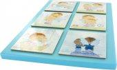 Immagine di 'Tavola Angelo di Dio 6 riquadri in legno cm 29x21 - Azzurro'