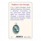 """Immagine di 'Card """"San Giuseppe e Bambinello"""" con preghiera e medaglia - (10 pezzi)'"""