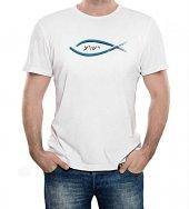 T-shirt Yeshua con pesce e scritta - taglia L - uomo