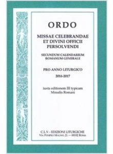 Copertina di 'Ordo missae celebrandae et divini officii persolvendi 2016-2017'