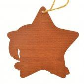 Immagine di 'Stella in legno da appendere con Natività classica - dimensioni 9,5x9,5 cm'