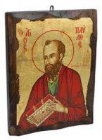 """Icona in legno """"San Paolo"""" - dimensioni 21x16 cm"""