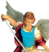 Immagine di 'Statua da esterno San Michele Arcangelo in materiale infrangibile dipinta a mano cm 30'