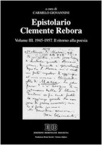 Copertina di 'Epistolario Clemente Rebora'