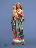 """Statua in fibra di vetro """"Maria ed il Bambino"""" - altezza 75 cm"""