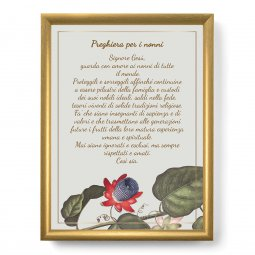 """Copertina di 'Quadro con preghiera """"Preghiera per i nonni"""" su cornice dorata - dimensioni 44x34 cm'"""