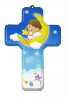 Croce in mdf Angelo della buonanotte cm 12x18 con busta