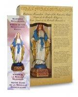 Immagine di 'Statua della Madonna Miracolosa da 12 cm in confezione regalo con segnalibro in IT/EN/ES/FR'