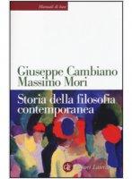 Storia della filosofia contemporanea - Cambiano Giuseppe, Mori Massimo