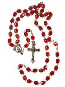 Copertina di 'Rosario mezzo cristallo rosso'