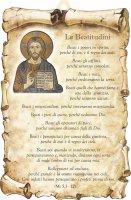 "Tavoletta sagomata ""Le Beatitudini"" - Gesù"