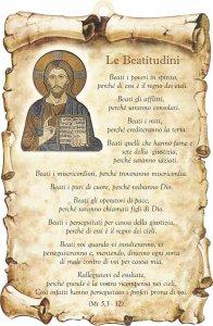 "Copertina di 'Tavoletta sagomata ""Le Beatitudini""'"