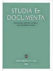 Copertina di 'Studia et documenta. Rivista dell'Istituto Storico San Josemaría Escrivá'